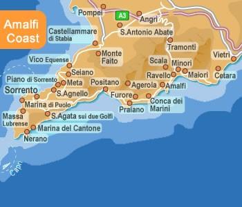Amalfi Coast Map 2