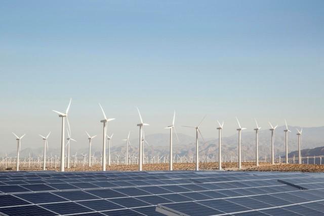 Wind Mill.Solar Panel Palm Springs